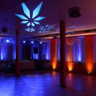 Sala taneczna-dekoracja światłem