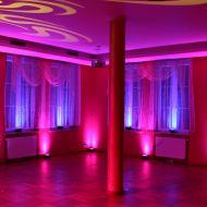 Dekoracja światłem sali tanecznej